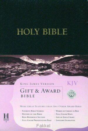 product afbeelding voor: Kjv gift & award bible black leatherflex