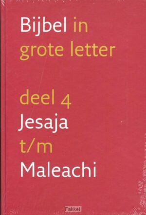 product afbeelding voor: Grote letterbijbel nbv 4 Jesaja-Maleachi