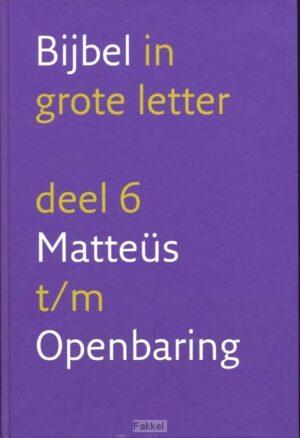 product afbeelding voor: Grote letterbijbel nbv 6 Nieuwe Testamen