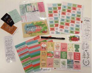 product afbeelding voor: Biblejournaling craftpakketje