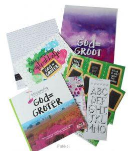product afbeelding voor: Biblejournaling God=Groter craftpakketje