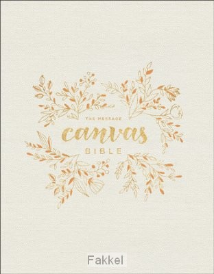 product afbeelding voor: MES canvas Bible leatherlook gold leaf