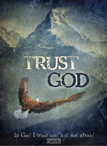 product afbeelding voor: Wandbord A3 Trust in God