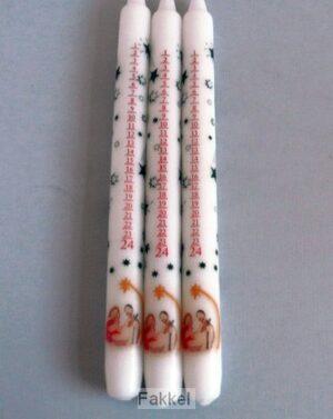 product afbeelding voor: Adventkaars met kribbetje