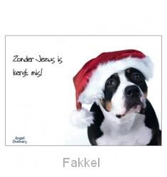 product afbeelding voor: Kerstkaart zonder Jezus is kerst mis!