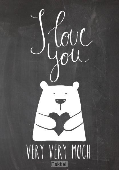 Wenskaart I Love You Very Very Much 552818 De Fakkel