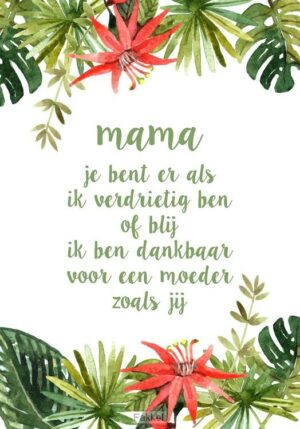 product afbeelding voor: Canvasbord S: Mama...