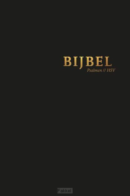 product afbeelding voor: Bijbel HSV psalmen zwart 12x18cm